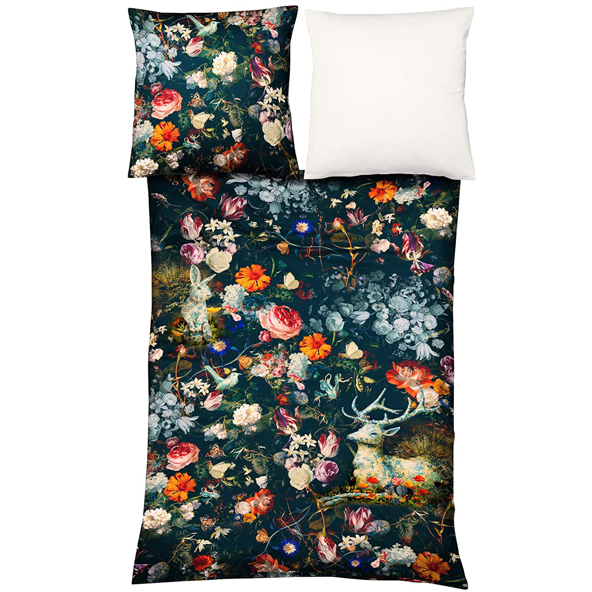 Mako Satin Bettwäsche Fleuresse Bed Art S Fantasy Flowers Glory Betten Seifert