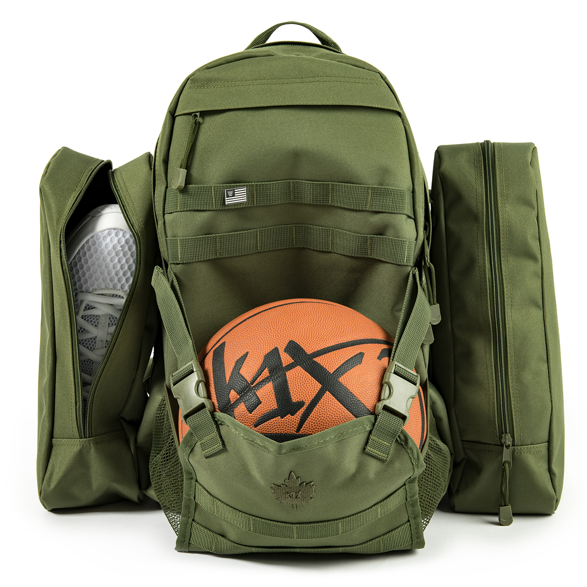 Rucksack Olivgrün K1x Basketball Rucksack On A Mission Backpack Olive