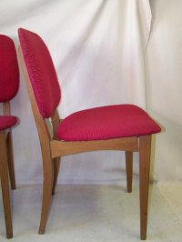 2x Old Wood Chair RED, Iconic Retro Design Vintage Kitchen