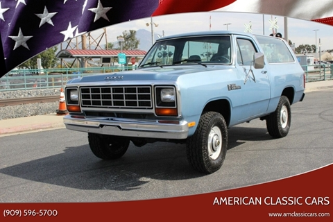 Used 1984 Dodge Ramcharger For Sale - Carsforsale®