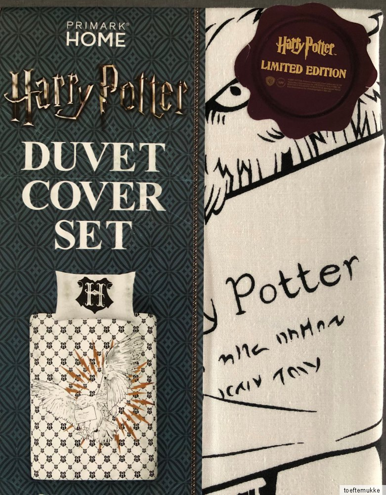 Primark Harry Potter Bettwäsche Harry Potter Wende-bettwÄsche Set Hogwarts Brief Eule