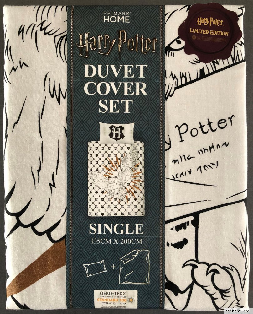 Harry Potter Wende Bettw196;sche Set Hogwarts Brief Eule