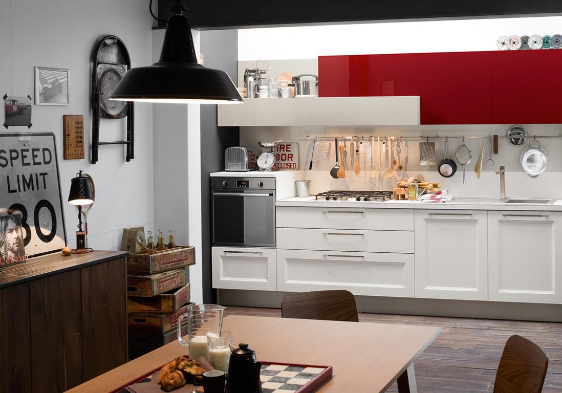 Cuisine Blanche Et Rouge | Cuisine Rouge Et Noir