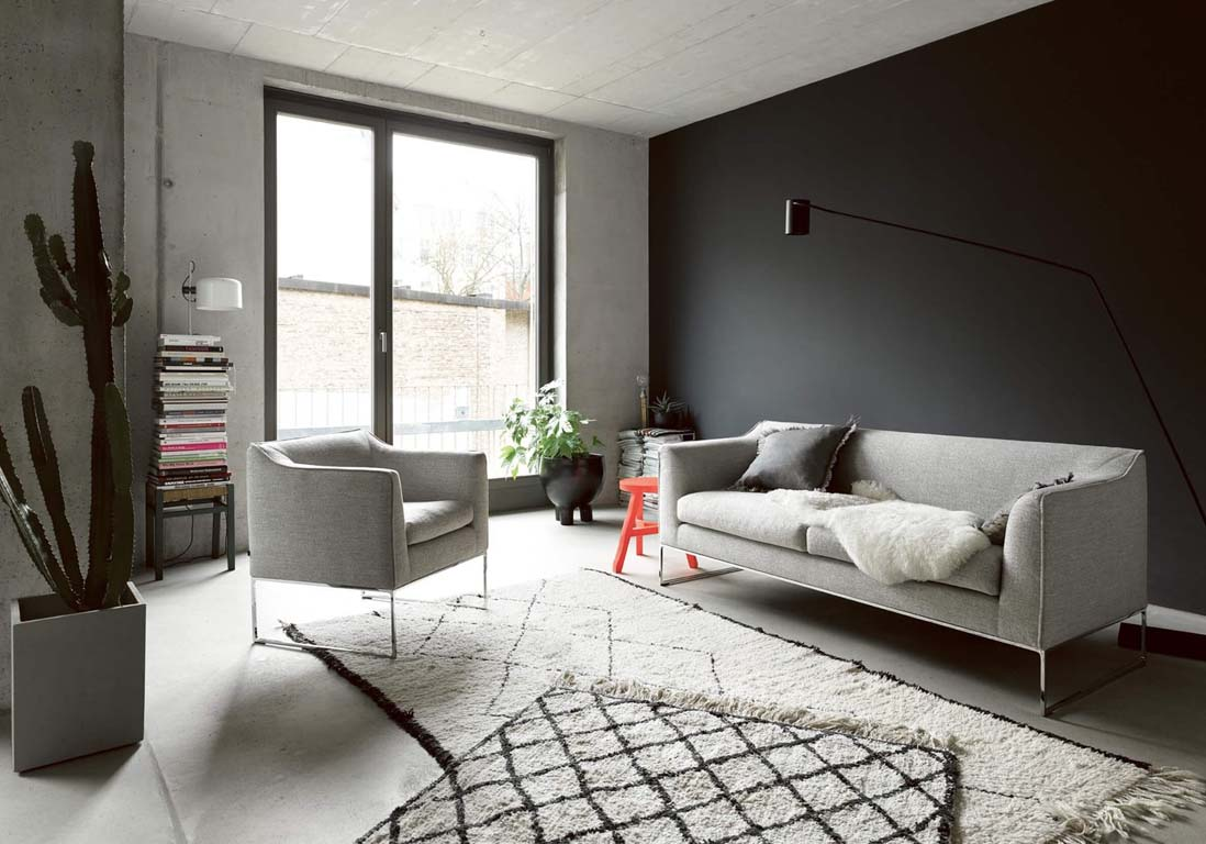 Photo De Decoration Un Salon Gris Pour Une Déco Chic Et Intemporelle Elle