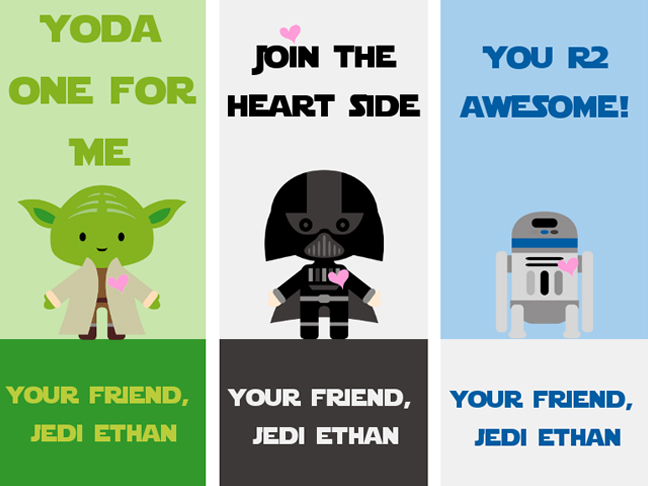 14 Free Printable Star Wars Valentines for Kids  Classrooms