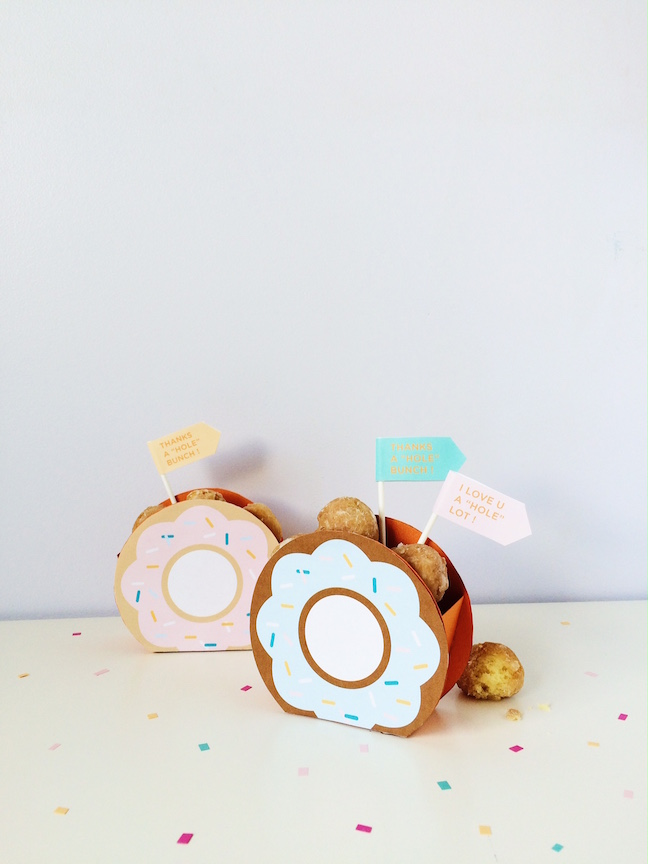FREE TEMPLATE Donut Party Favor Boxes
