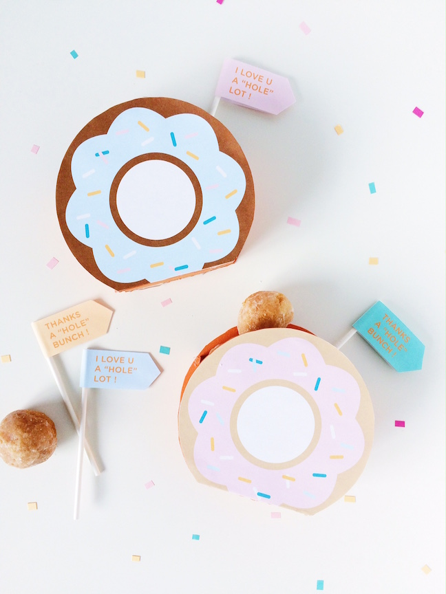 FREE TEMPLATE Donut Party Favor Boxes - donut template