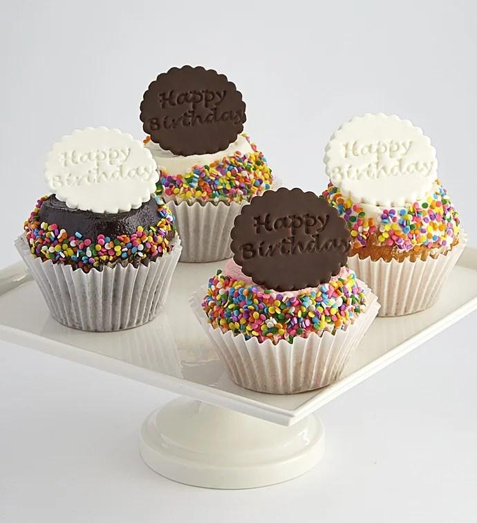 Little Whisk Happy Birthday Jumbo Filled Cupcakes