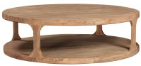 Round Reclaimed Wood Coffee Table - Taramundi Furniture ...