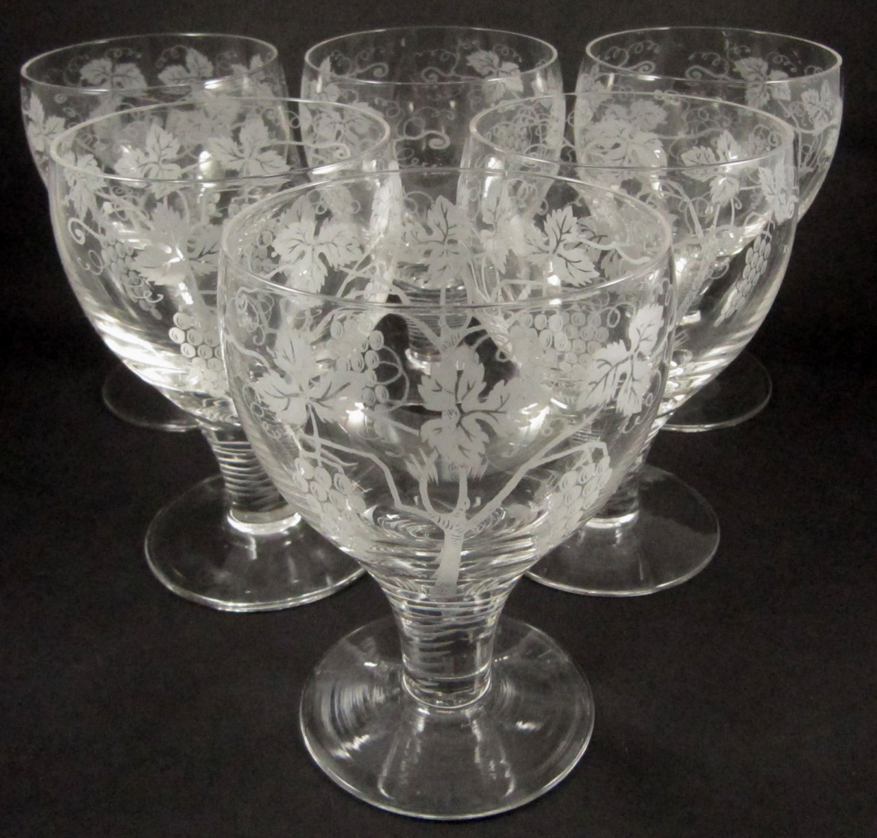 Big Red Wine Glasses 6 Vintage Stuart Crystal Grape Vine Wine Glasses In Stock