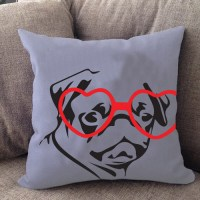 Pug Hipster Pillow - Righteous Hound
