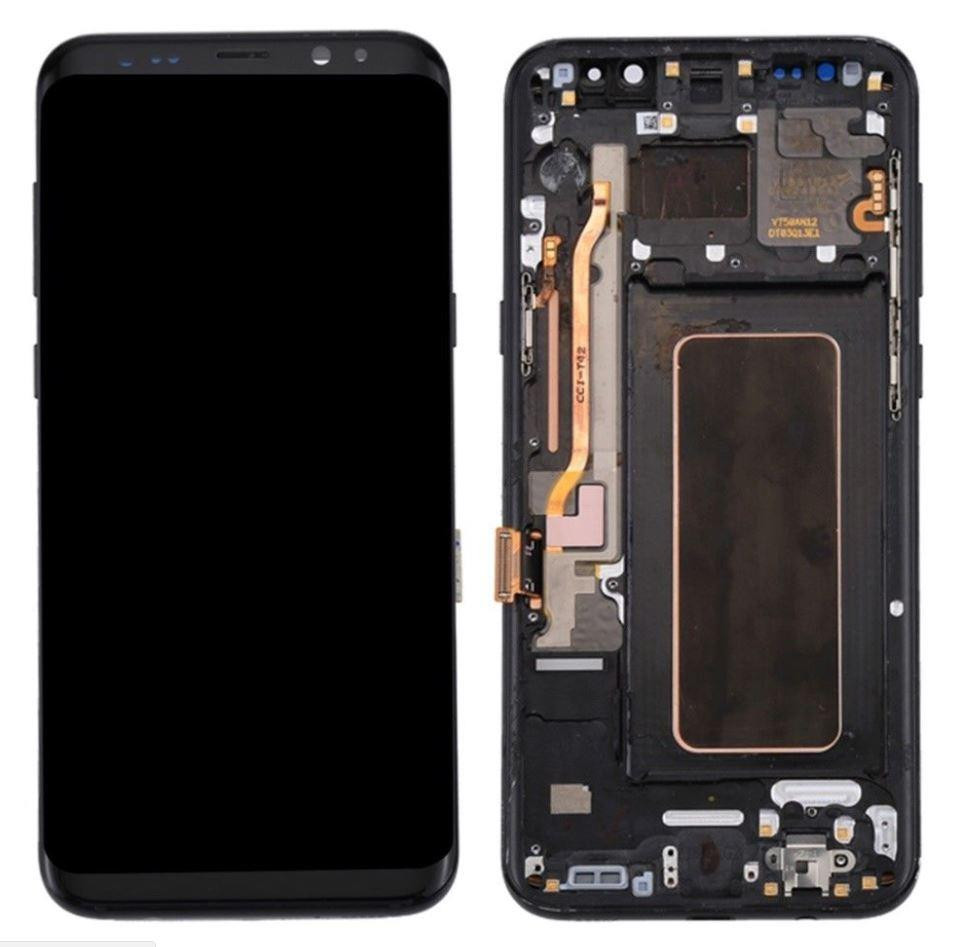 Black Galaxy Factory Samsung Galaxy S8 Plus 6 2in Lcd Touch Screen Digitizer Glass Black With Frame