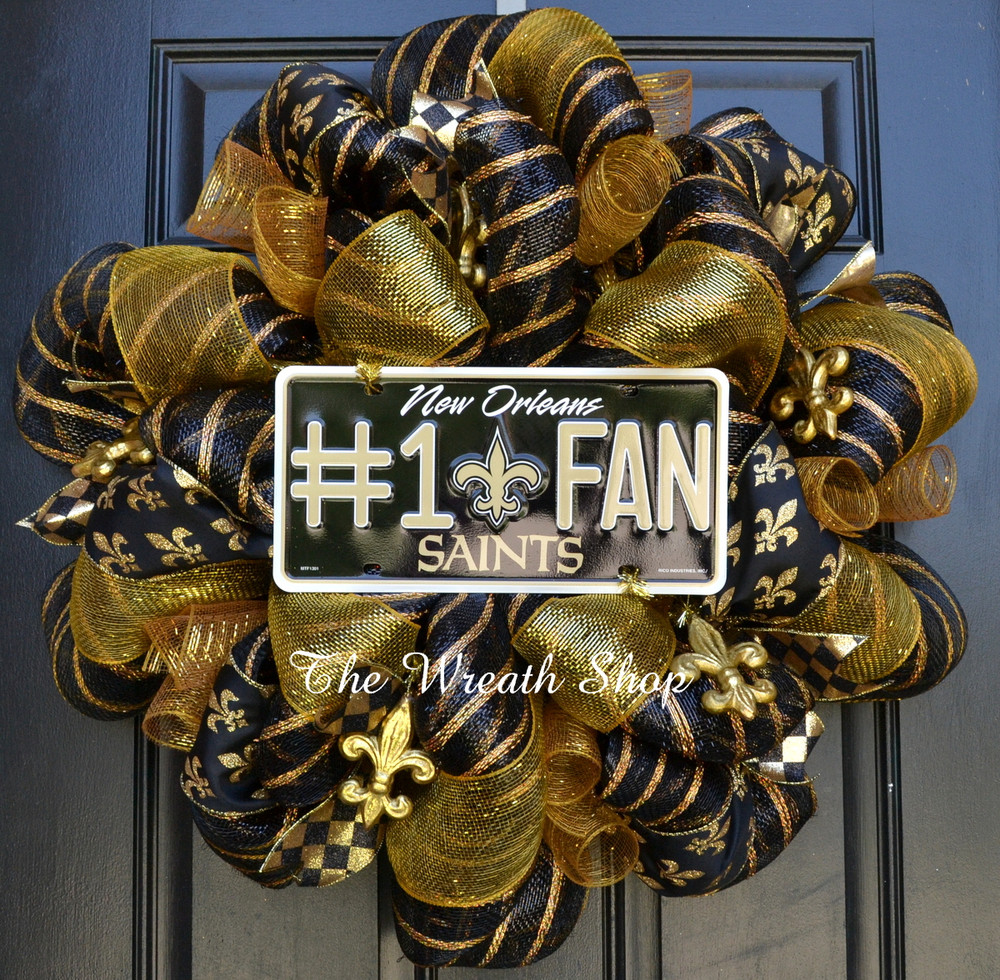 Fall In New England Wallpaper New Orleans Saints Nfl Wreath