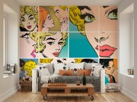 Pop Art Mural | Oh Popsi Wall Murals | Lancashire Wallpapers