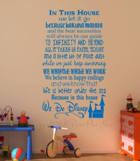 Disney Wall Decal - in this house we do disney wall decal ...