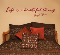 Life Is A Beautiful Thing ~ Marilyn Monroe Wall Decal ...