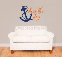 Seas the Day with Anchor Nautical Beach Summer Wall Decals ...