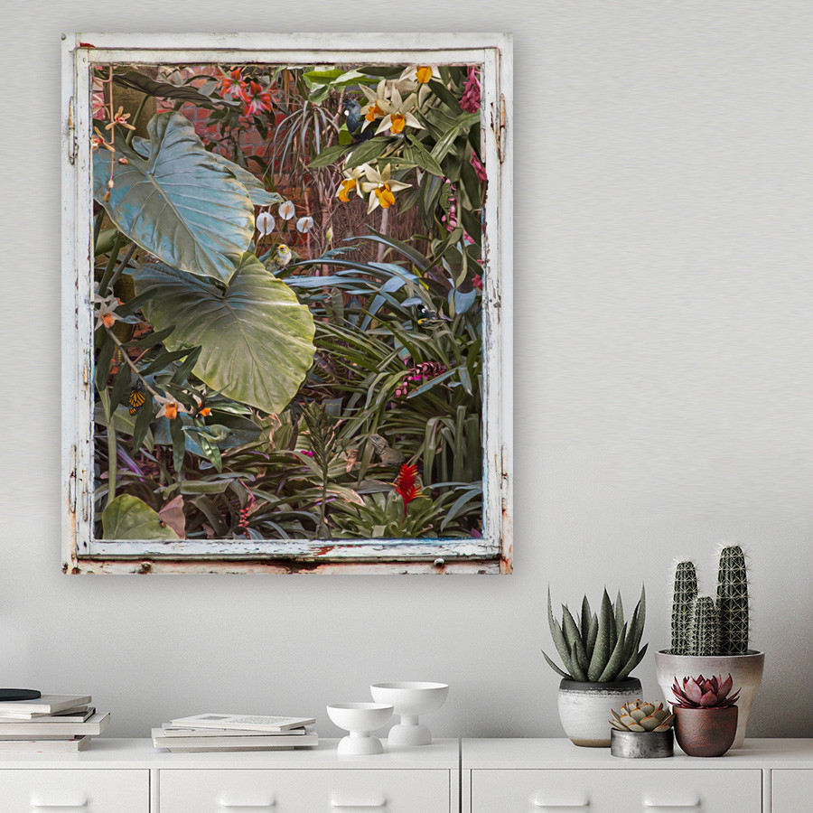 Art Wall Enchanted Garden Tui Botanical Print Glass Wall Art Or Canvas Print