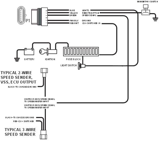 wiring diagram for dolphin electronic speedometer
