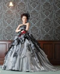 Gray Wedding Dress in Taffeta and Organza Gray Bridal Gown ...