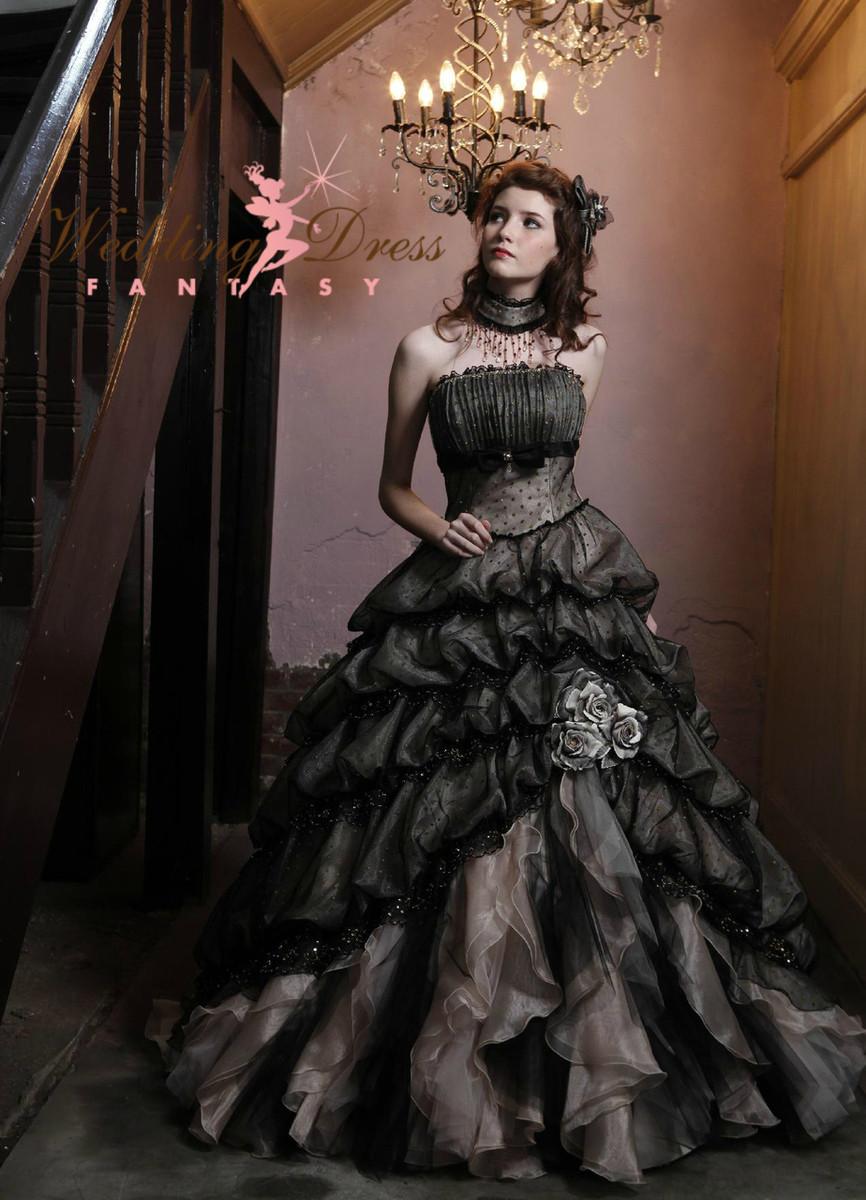 black and cream wedding dress red gothic wedding dress Gothic Wedding Dresses