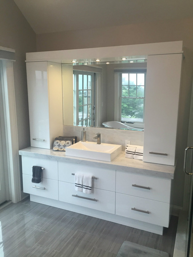 How To Fit Kitchen Wall Cabinets Custom - Bathroom Vanity With Cabinets
