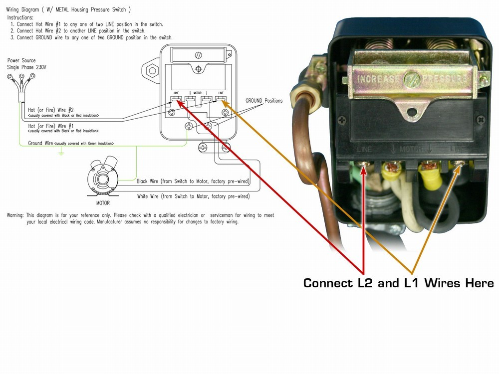 air compressor 220v wiring diagram