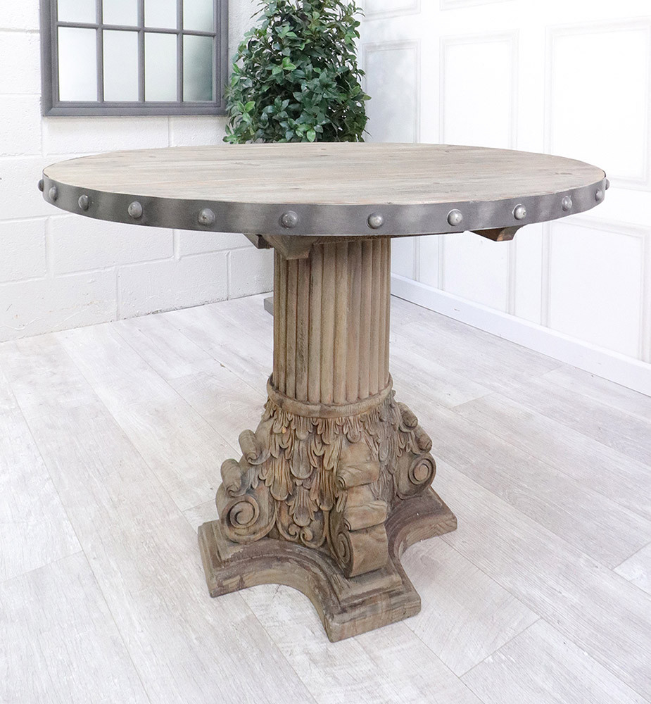 French Reclaimed Studs Dining Table French Country Furniture Usa