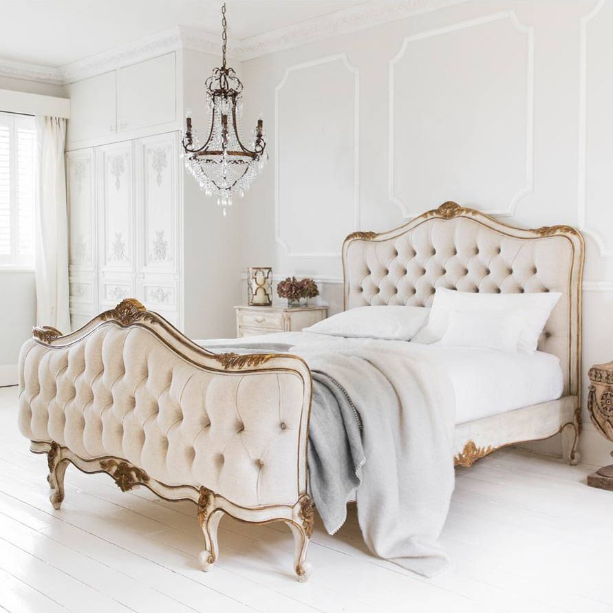 French Tufted Bed French Country Furniture Usa