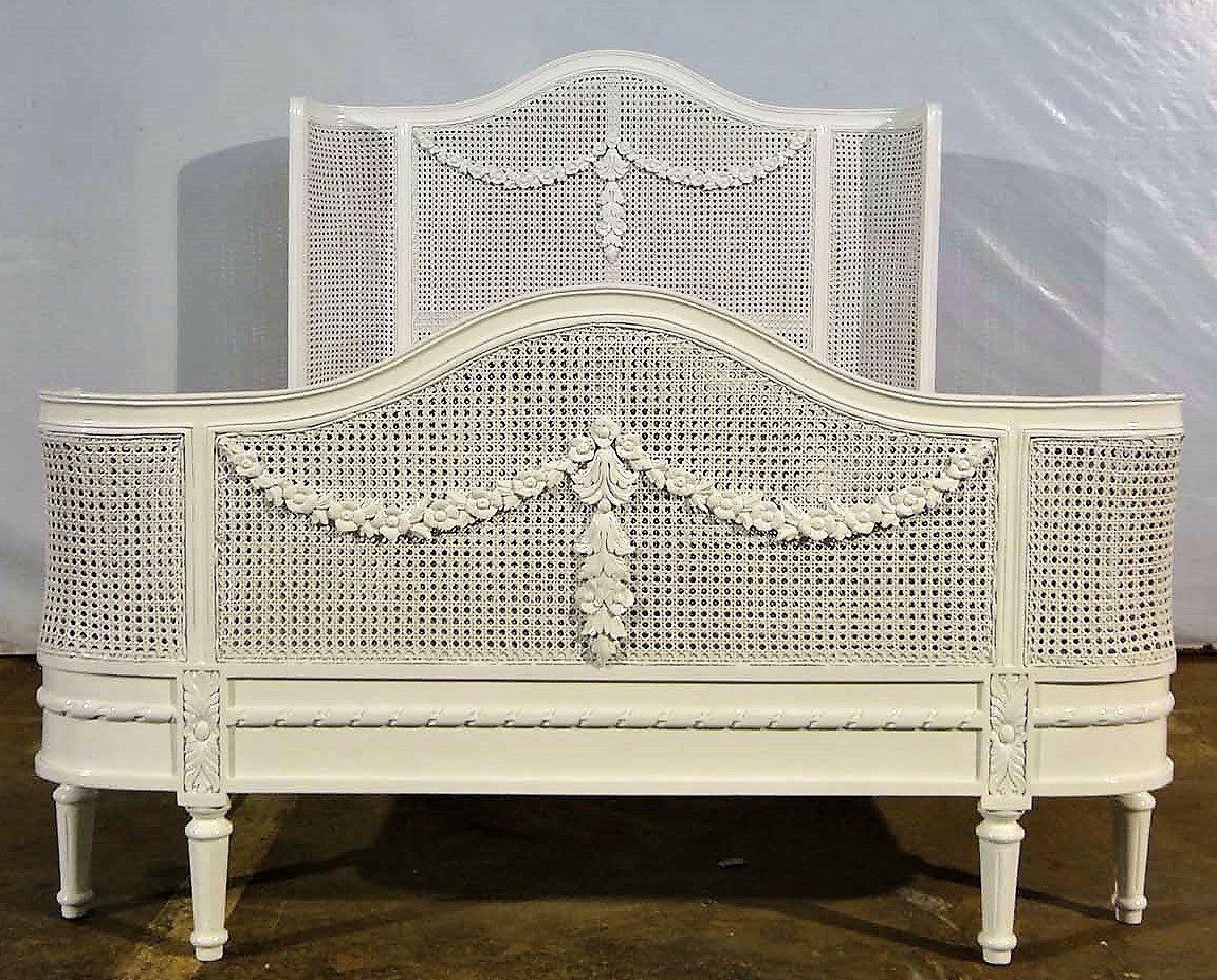 French Wing Rattan Bed Frame French Country Furniture Usa