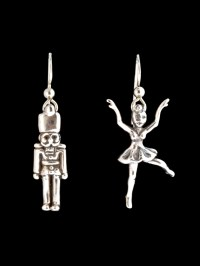 Christmas - Nutcracker and Ballerina Earrings Jewelry