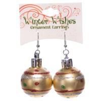 Christmas Ball Earrings - Pink Only - RetroFestive.ca