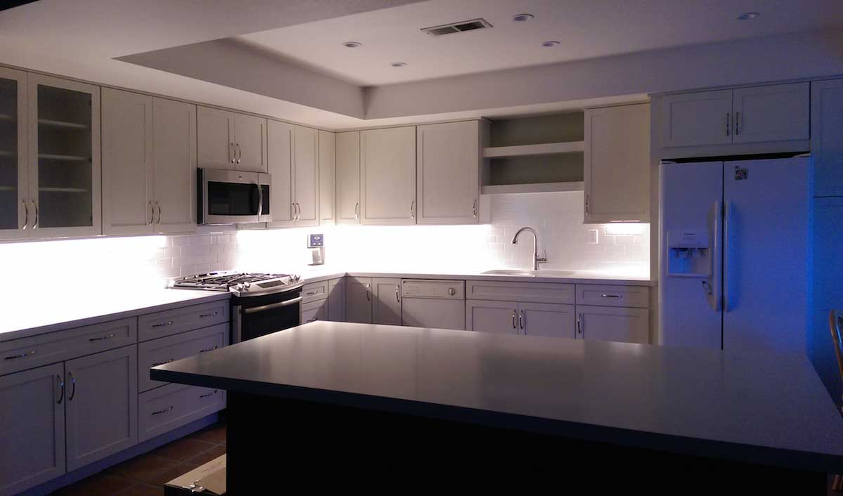 Led Light Strips Under Counter Residential Led Strip Lighting Projects From Flexfire Leds