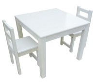 QToys Eco-Friendly White Table & Chair Set for Kids on ...