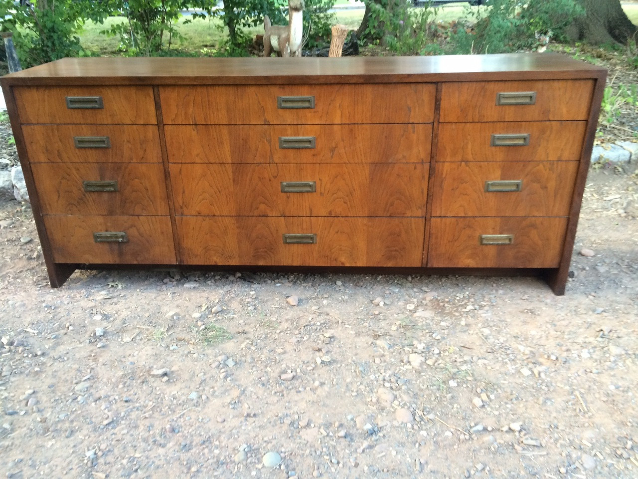 12 Drawer Chest Of Drawers Mcm Walnut 12 Drawer Dresser By Founders