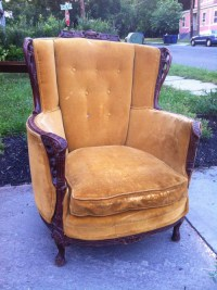 Antique Carved Mahogany Barrel Chair - Forgotten Furniture