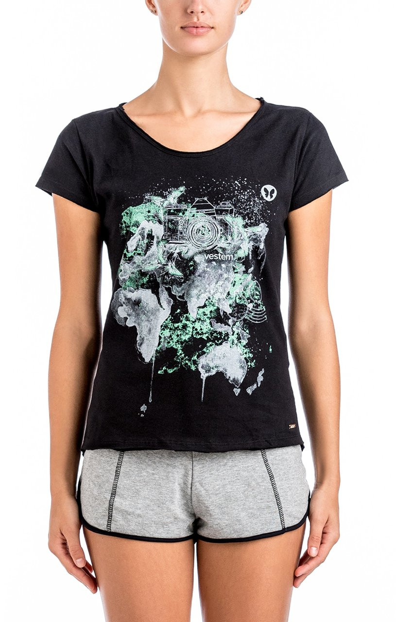 C En A Vesten Vestem Black New Face Top