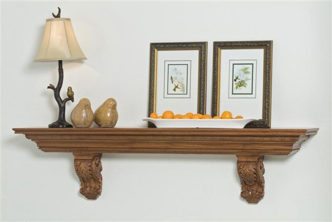 Mantel Shelf Custom Ardmore Wood Acanthus