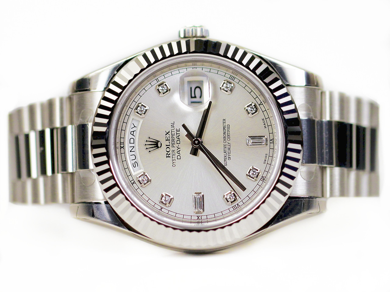Rolexs Watches Rolex Oyster Perpetual Watch Day Date Ii White Gold