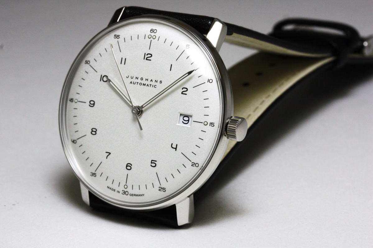 Max Bill Automatic Junghans Watch Max Bill Automatic Silver Dial Numerals Date 027 4700 00