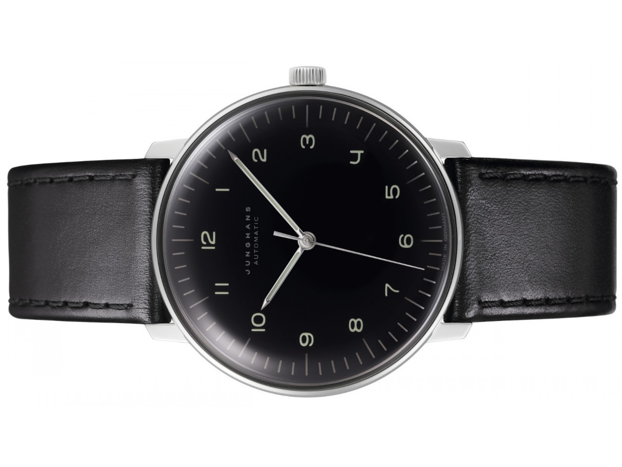 Max Bill Automatic Junghans Watch Max Bill Automatic Black Dial Numerals By Junghans 027 3400 00