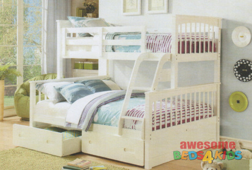 Brighton Bunk Bed White Bunk Beds Single Over Double