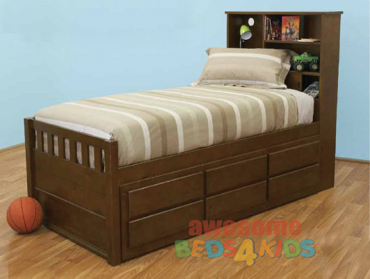 Mayne Captains Bed Timber Trundle Bed Trundle Beds For