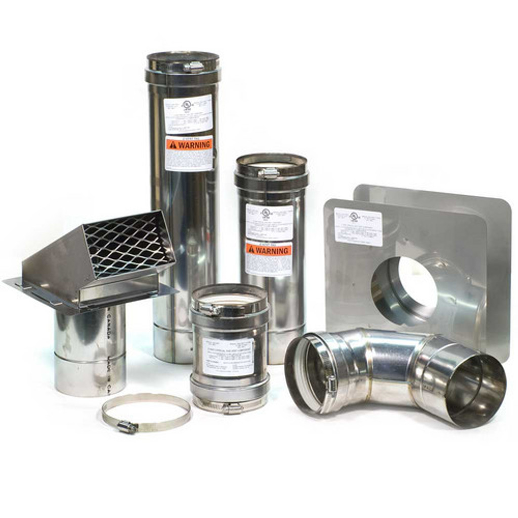 4quot Horizontal Z Vent Water Heater Vent Kit With Backflow