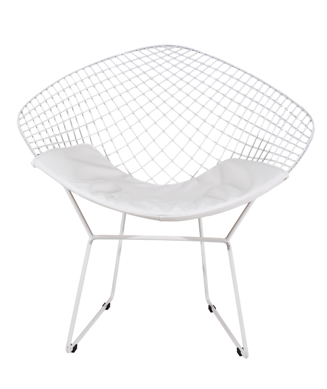 Diamond Sessel Replica Harry Bertoia Diamond Chair White Powdercoat Various Colour Cushions