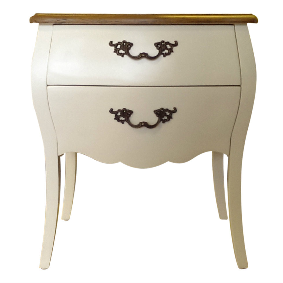 Provincial Bedside Tables Provincial Bedside Table White