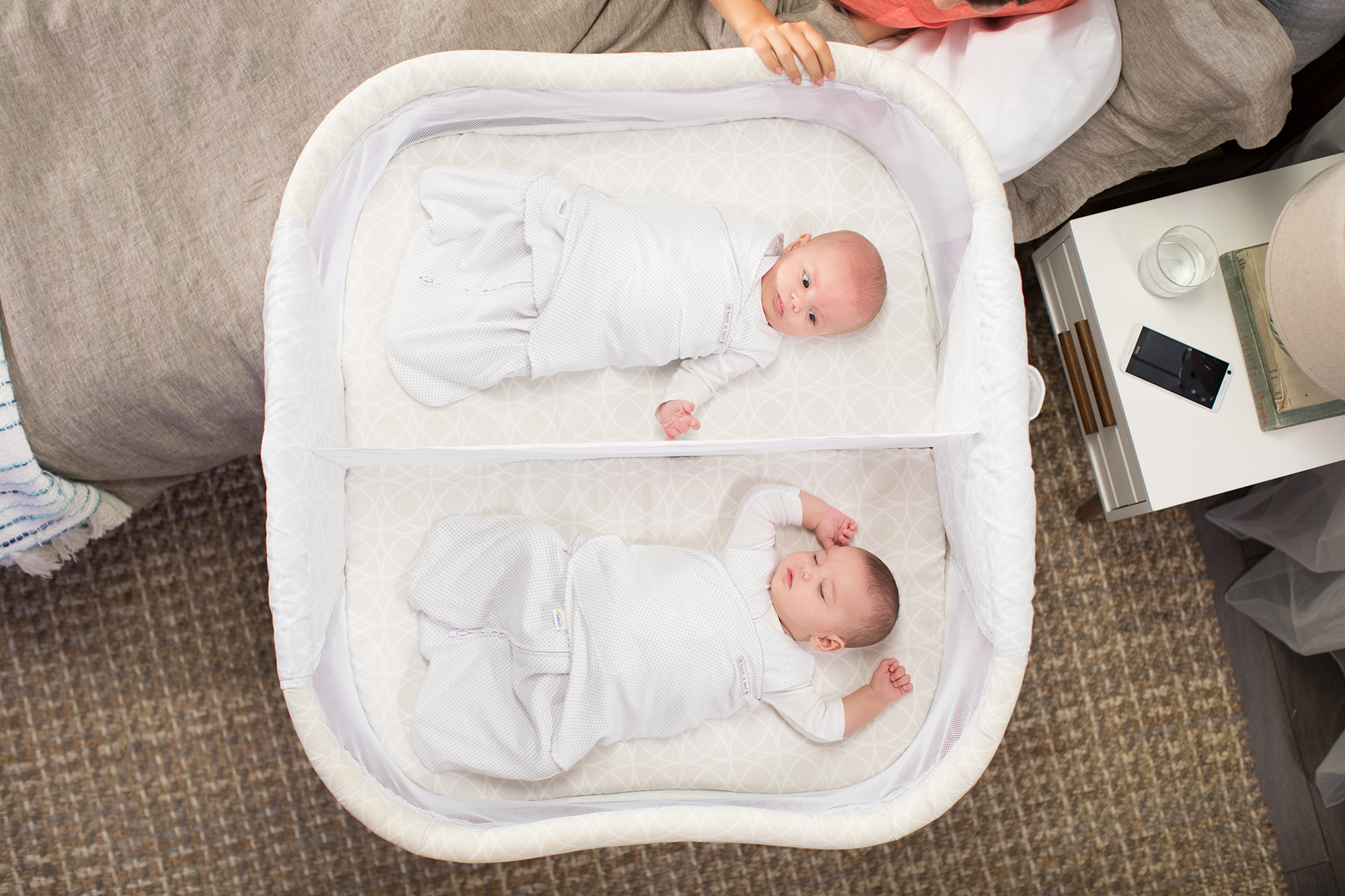 What Can Baby Sleep In Next To Bed Safe Sleep For Twins Halosleep