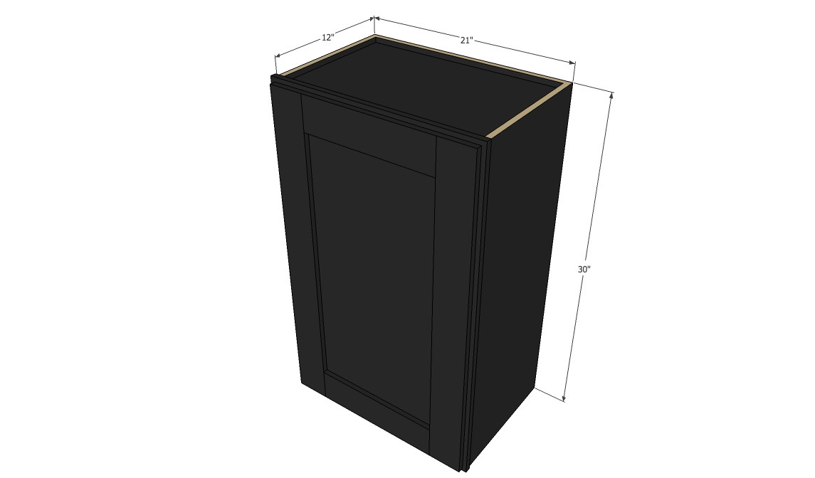 SaveEnlarge · Large Double Door Island Java Shaker Wall Cabinet 36 Inch Wide X 30 ...  sc 1 st  Veterinariancolleges : 15 x 30 cabinet doors - Cheerinfomania.Com