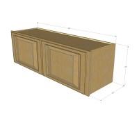 Regal Oak Horizontal Overhead Wall Cabinet - 36 Inch Wide ...