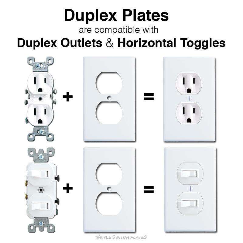 Horizontal Flip Toggle Light Switch Wall Plates